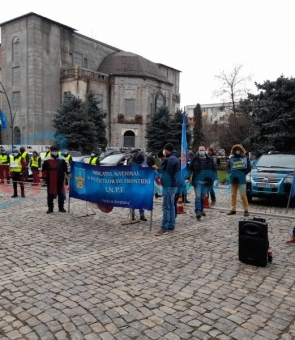 Protest, Botoșani, polițiști