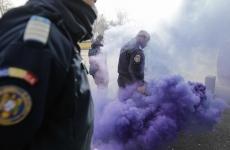 protest politie