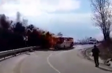 autocar, incendiu, sibiu