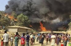 incendiu tabără de refugiați Bangladesh