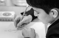 elev copil scrie
