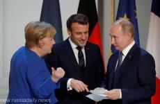 Putin macron merkel