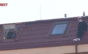 baiat camin acoperis