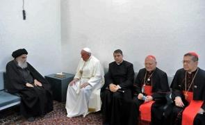 Papa Francisc și ayatollahul Ali al-Sistani