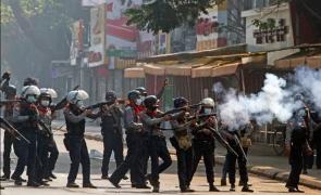 Myanmar revolutie revolta