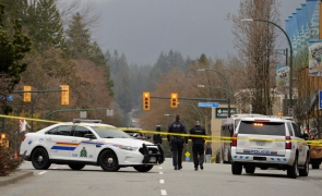 atac Canada Vancouver librărie poliție