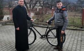 bicicleta preot copil