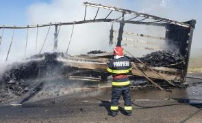 incendiu camion braila