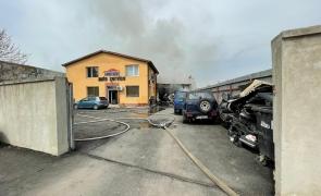 incendiu service auto