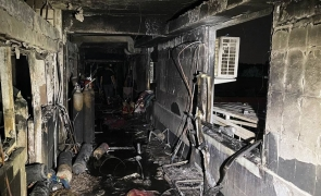 bagdad incendiu spital
