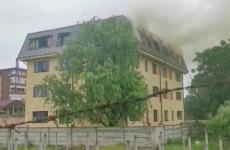 incendiu bloc mansarda