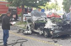 masina explodata arad