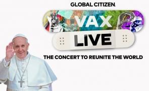 papa francisc vax live