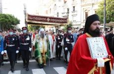 belgrad serbia procesiune preoti
