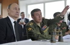Valery Gerasimov și Vladimir Putin