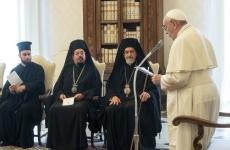 papa Francisc delegație a Patriarhatului Ecumenic de Constantinopol