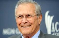 Fostul şef al Pentagonului Donald Rumsfeld