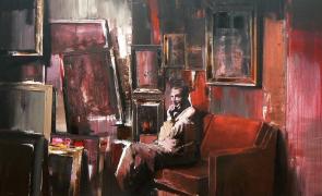 The Collector I, de Adrian Ghenie, tablou, arta
