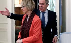 Serghei Lavrov și secretarul general OSCE, Helga Schmidt