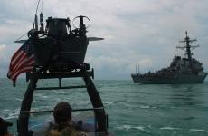 """Distrugătorul """"Carney"""" al Marinei SUA in Marea Neagea"""