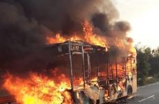 Autobuz, flăcări, cluj, incendiu