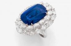 safir din Caşmir de 27 de carate bijuterii