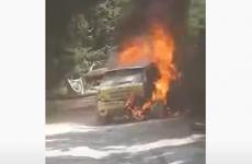 Raliul sibiului masina arsa