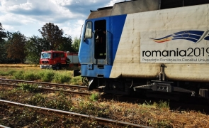 incendiu locomotiva calea ferata tren