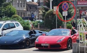 masini parcate in fata sediului politiei lugoj