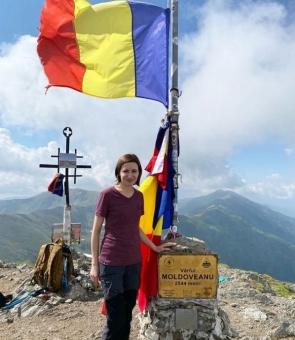 maia sandu varful moldoveanu munte romania