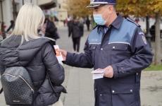 control masca covid politie femeie