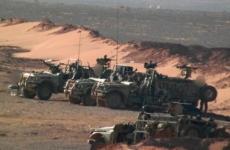 Al Tanf baza siria masini militare