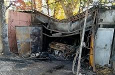 incendiu garaj